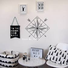 Compass Wall Sticker Home Decor Living Room Geometric Wall Decals For Kids Bedroom Removable Art Decoration Decal Mural Za859 Geometric Wall Decals Wall Decalsstickers Home Decor Aliexpress