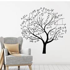 Math Tree Vinyl Wall Decal Teen Room Brain School Symbol Mathematics Class Room Wall Stickers Nordic Home Decoration Art Wall Stickers For Boys Wall Stickers For Children From Joystickers 22 61 Dhgate Com