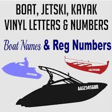 Custom Boat Decal Kayak Jetski Vinyl Lettering Boat Etsy