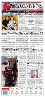July 30, 2019 - The Posey County News by The Posey County News - issuu