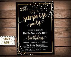 Surprise Birthday Invitation Shhh It S A Surprise Birthday Party