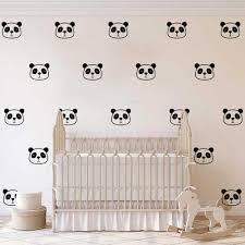 Panda Face Wall Decal Baby Nursery Kids Room Bear Panda Animal Pet Jungle Wall Sticker Bedroom School Vinyl Home Decor Art Wall Stickers Aliexpress