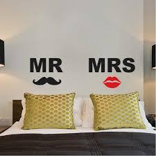 Mr Mrs Headboard Wall Decals Trendy Wall Designs