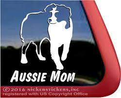 Aussie Mom Australian Shepherd Dog Decals Stickers Nickerstickers