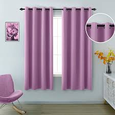 Amazon Com Purple Curtains 63 Inch Length For Kids Room 2 Panels Grommet Window Light Blocking Room Darkening Blackout Drapes For Girls Bedroom Teen Little Princess Baby Mermaid Nursery 52x63 Lilac Lavender Kitchen