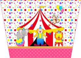 El Circo Especial Ninas Invitaciones Y Etiquetas Para Candy Bar