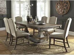 Millennium Johnelle D776 55t 55b 6x01 7 Pc Dining Room Ext Table And 6 Uph Side Chairs Set Sam Levitz Furniture Dining 7 Or More Piece Sets