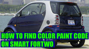 colour paint code on smart fortwo