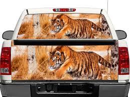 Product Big Cat Snow Tiger Wildlife Winter Predator Rear Window Or Tailgate Decal Sticker Pick Up Truck Suv Car Rear Window Rear Window Decals Snow Tiger