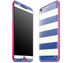 Best Iphone 6 Plus Nautical Striped Neon Pink Glow Gel Case Cover Skin Wrap That Glows In The Dark Adaptation