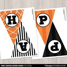 Basketball Birthday Banner Sports Bunting Banner Decor