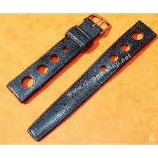 rubber 18mm black holes tropic watch