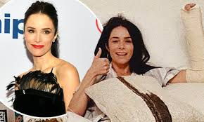 Abigail Spencer is on the mend after breaking her wrist doing a ...
