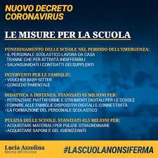 Decreto 'cura Italia' Coronavirus, Azzolina: sintesi misure ...