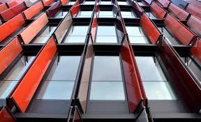 red glass window frame free image peakpx