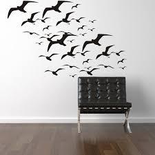 Flying Seagulls Wall Decal Bird Decals Seagulls Vinyl Wall Etsy