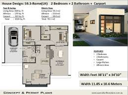 2 bedroom 2 bathroom small home design