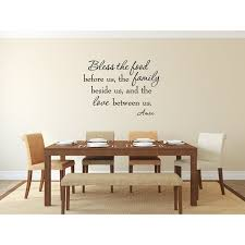 Vwaq Bless The Food Before Us The Family Beside Us And The Love Between Us Wall Decal Reviews Wayfair