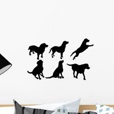 Dog Silhouettes Wall Decal Wallmonkeys Com