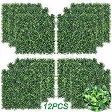 12pcs Artificial Boxwood Hedge Mat Milan Grass Fake Fence Wall Decor 20 X20 602299580692 Ebay