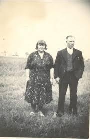Conrad (Con) and Daisy Priscilla Harrison on Waddlow Farm, Pymoor, circa  1940 | Family | Pymoor