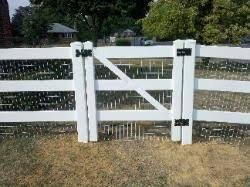 Pin By Garage Doors Gates 4 Less On Vinyl Gates Fence Vinyl Fence Backyard Fences Front Yard Fence