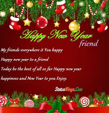 happy new year wishes for friends and family in english message
