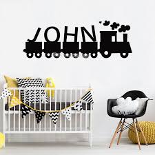 Train Smoke Wall Decal Custom Name Personalized Wall Sticker Nursery Kids Bedroom Home Decor Living Room Vinyl Art Mural Wall Decals Flowers Wall Decals For Adults From Joystickers 10 85 Dhgate Com