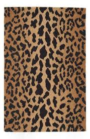 dash and albert leopard print wool rug