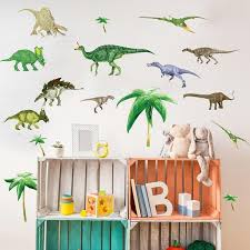 Ancient Dinosaurs Kids Room Wall Stickers Gallery Wallrus Free Worldwide Shipping