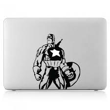 Captain America Superhero Laptop Macbook Vinyl Decal Sticker