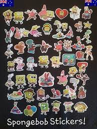 Spongebob Stickers Bulk Vinyl Skate Luggage Laptop Car Decal Party Pc 3 27 Picclick