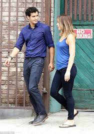 Co Stars and Lovers Elyes Gabel and Katharine McPhee on the set of ...