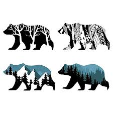 Decals Stickers Hunting Large Set Of 4 Grizzly Or Black Bear Tracks Decal Sticker Design For Car Or Wall Hunting Accessories Decals Stickers