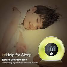 Amazon Com Dricroda Kid S Room Clock Wake Up Alarm Clock Night Light For Bedroom Bluetooth Speaker Bedside Music Player For Kids Baby