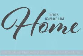 Wall Decals Words No Place Like Home Wall Decor Vinyl Stickers