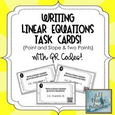 writing linear equations given point