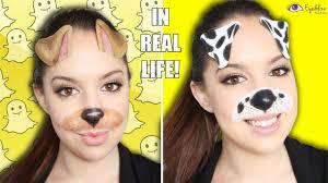 dog filter makeup tutorial