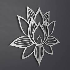 lotus flower metal wall art lotus