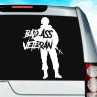 Military Veteran Vinyl Decals Stickers For Cars Walls Laptops