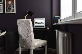 office idea with dark walls