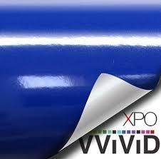 Vvivid Xpo Glossy Dark Navy Blue Vinyl Car Wrap Film Diy Easy To Install No Mess Decal 6ft X 5ft Toyboxtech