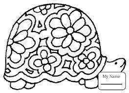 Tranh cho bé tô màu con rùa mai vẽ bông hoa « in hình này
