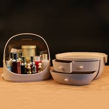 cosmetic storage box with led light