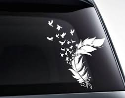 Birds From A Feather Vinyl Decal Sticker Decal For Cars Etsy