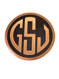 Gsj 4 5 Inch Round Monogram Logo Vinyl Decal Good Shot Judy