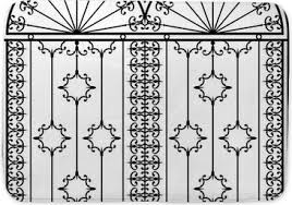 Wrought Iron Gate Door Fence Window Grill Railing Design Bath Mat Pixers We Live To Change