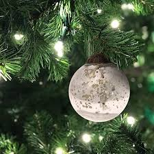mercury glass ball ornament