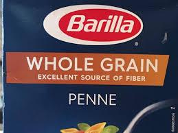 whole grain penne pasta nutrition facts