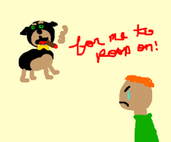 Minecraft dog and his owner - Drawception